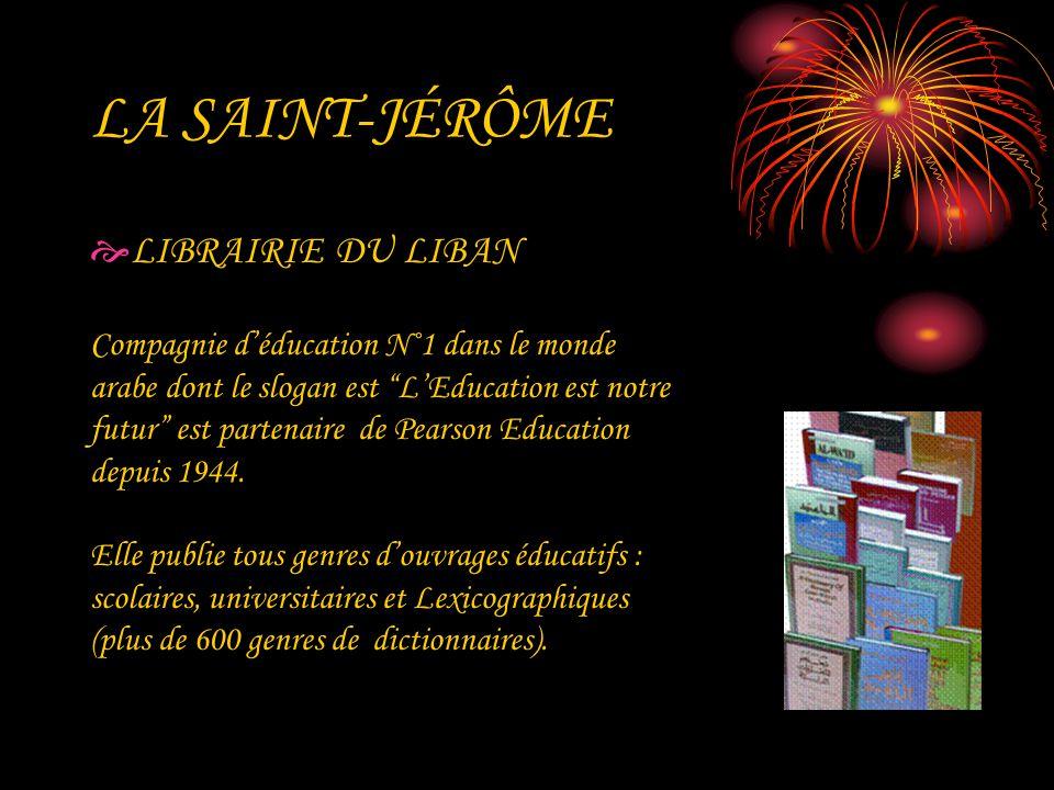 LA SAINT-JÉRÔME LIBRAIRIE DU LIBAN