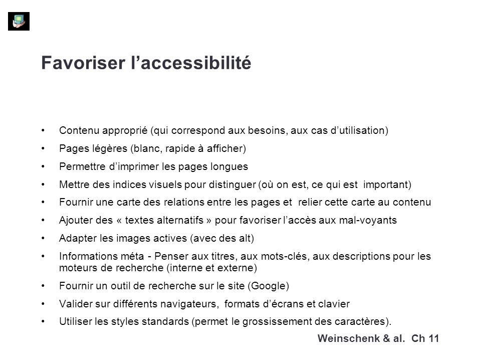 Favoriser l'accessibilité