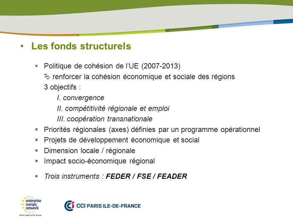 Les fonds structurels Politique de cohésion de l'UE (2007-2013)