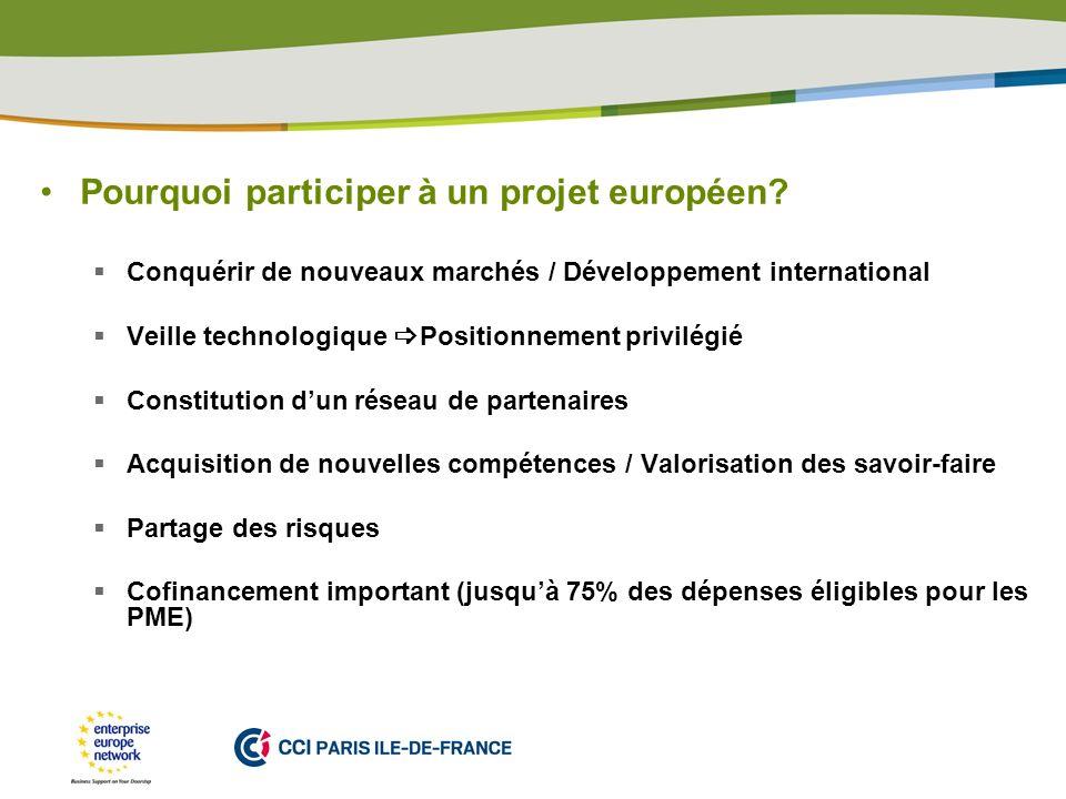 Pourquoi participer à un projet européen