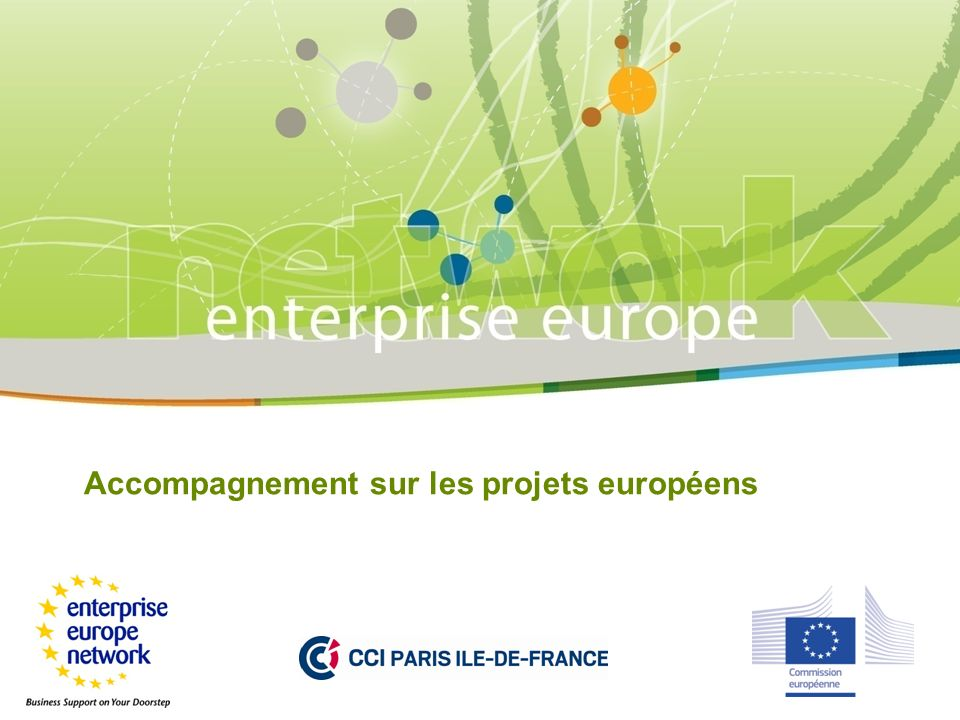 Accompagnement sur les projets européens