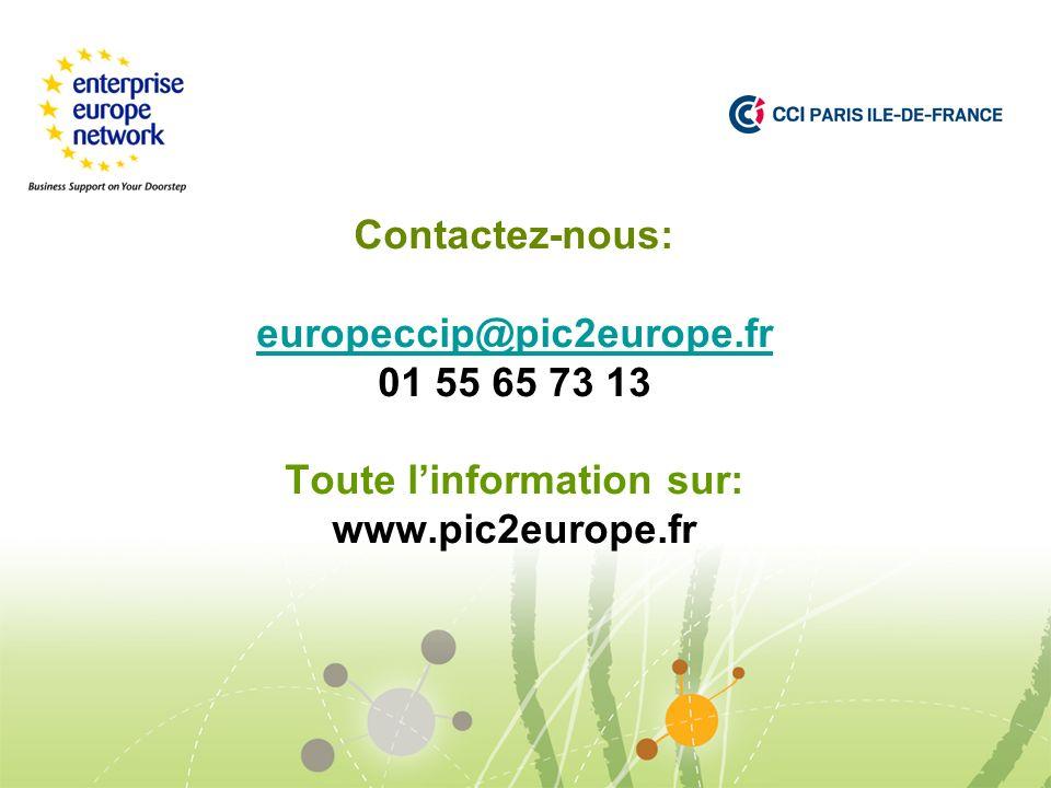 Contactez-nous: europeccip@pic2europe