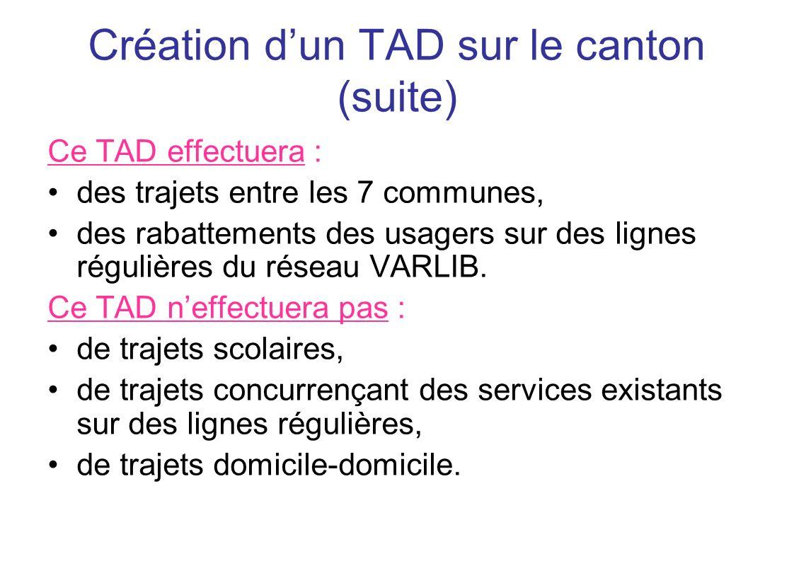 Création d'un TAD sur le canton (suite)
