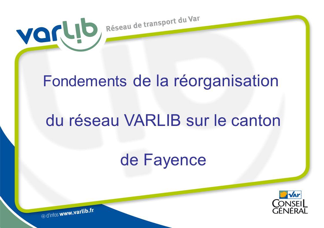 du réseau VARLIB sur le canton de Fayence