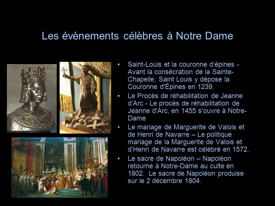 Les évènements célèbres à Notre Dame