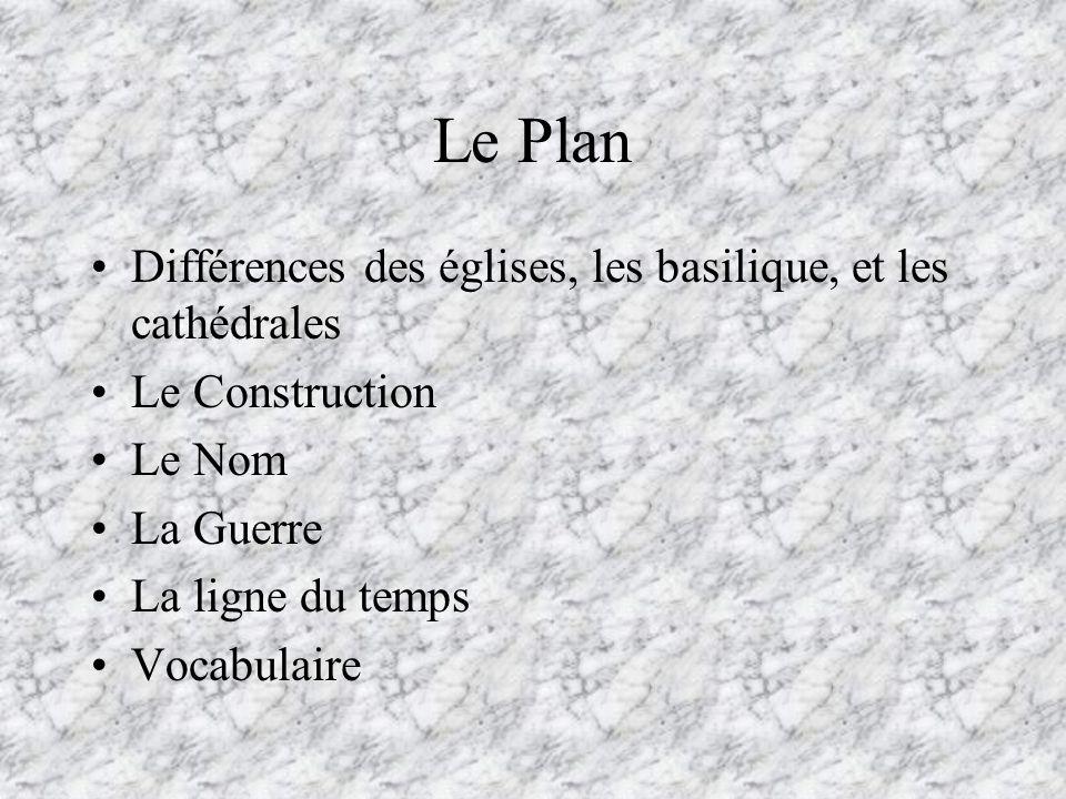 Le Plan Différences des églises, les basilique, et les cathédrales