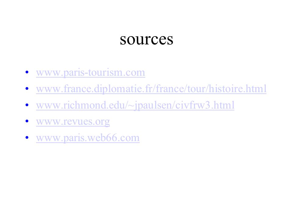 sources www.paris-tourism.com