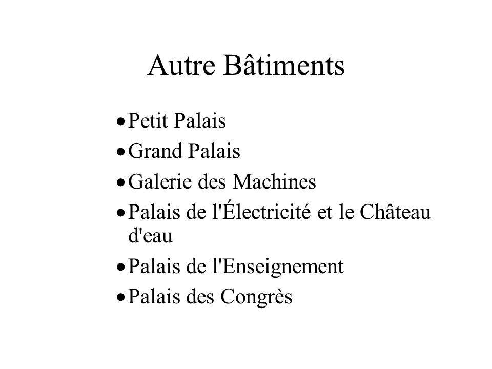 Autre Bâtiments Petit Palais Grand Palais Galerie des Machines
