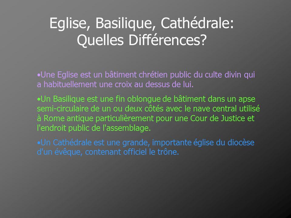 Eglise, Basilique, Cathédrale: Quelles Différences