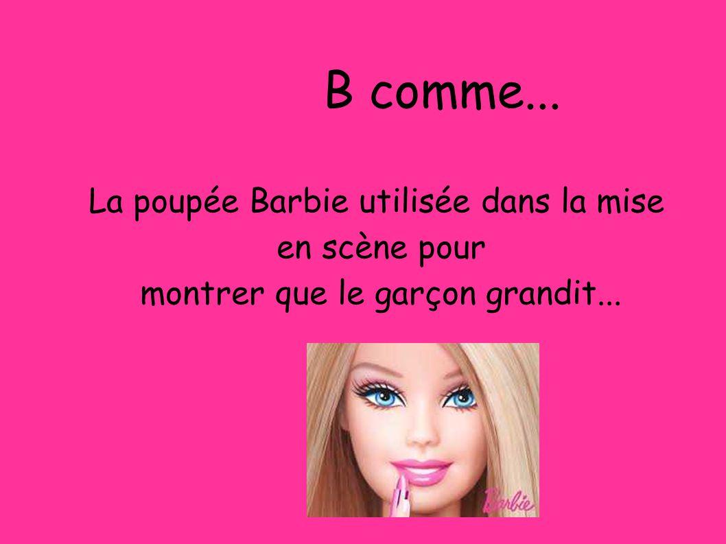 B comme... B comme... La poupée Barbie utilisée dans la mise