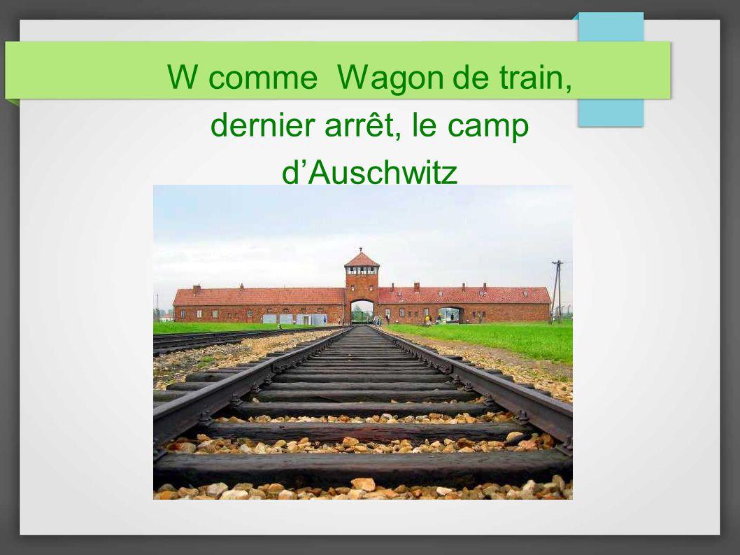 W comme Wagon de train, dernier arrêt, le camp d'Auschwitz