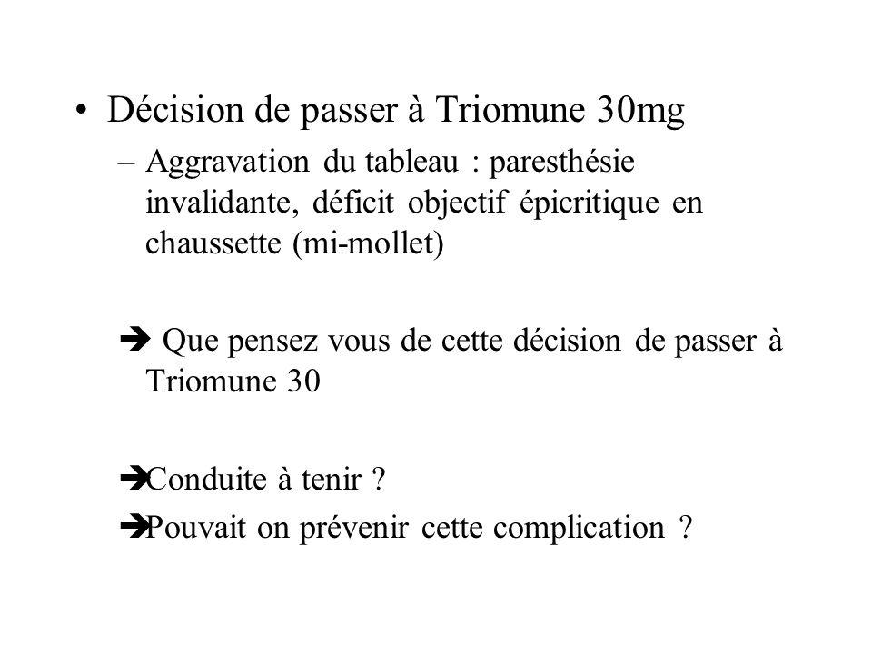 Décision de passer à Triomune 30mg
