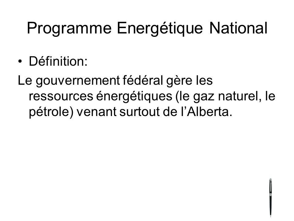 Programme Energétique National