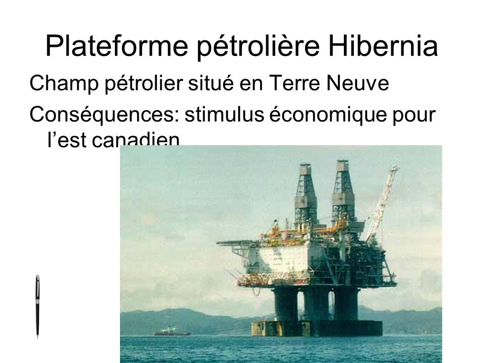 Plateforme pétrolière Hibernia