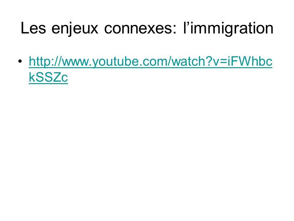 Les enjeux connexes: l'immigration