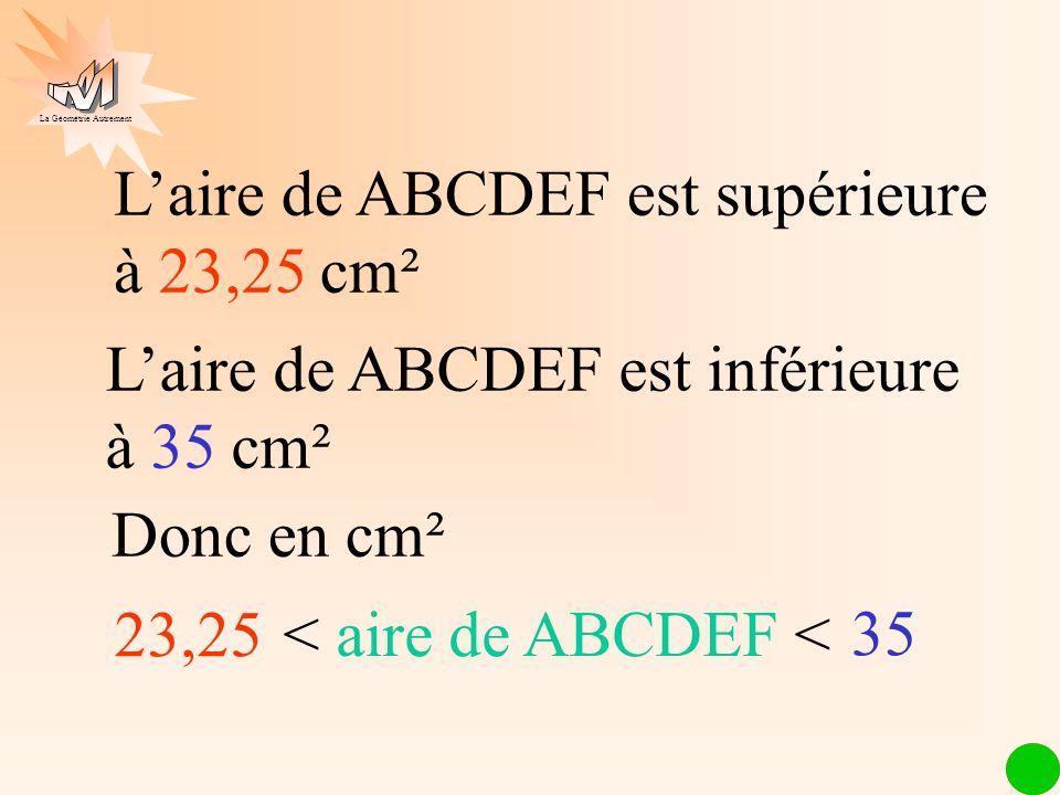 L'aire de ABCDEF est supérieure