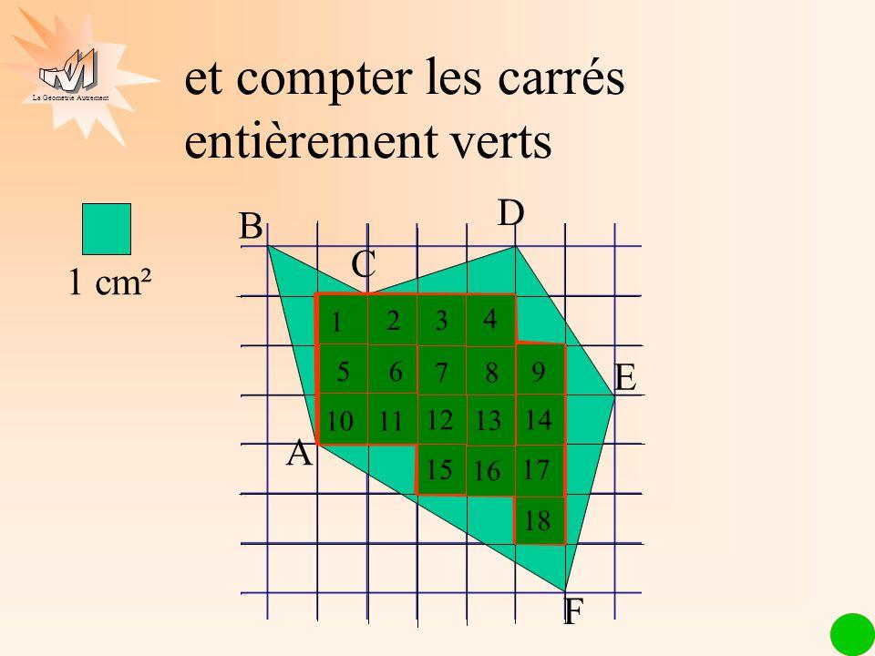 et compter les carrés entièrement verts