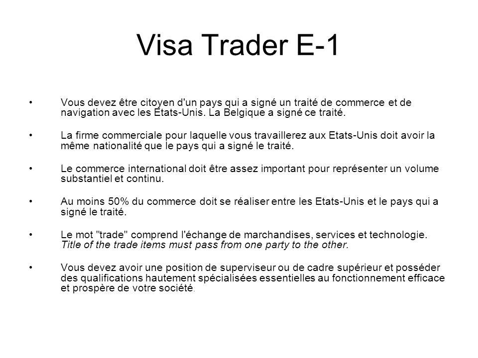 Visa Trader E-1