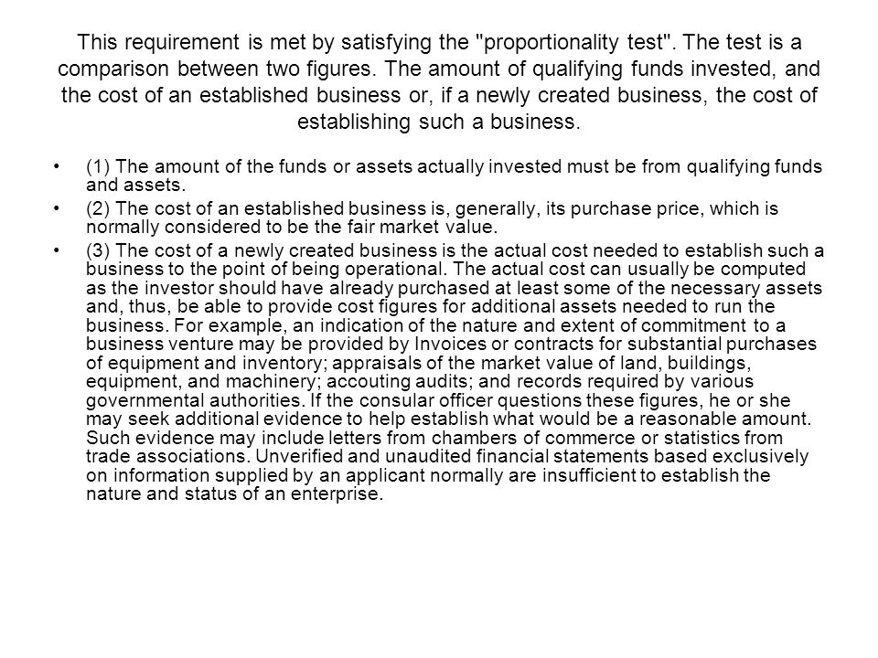 This requirement is met by satisfying the proportionality test