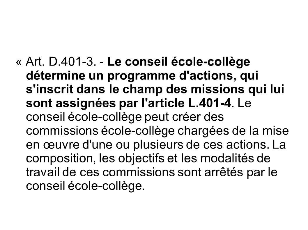« Art. D.401-3.