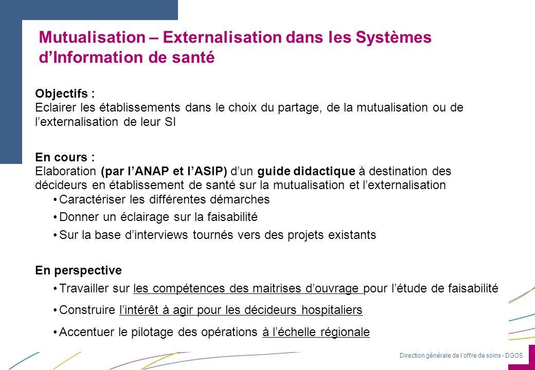 Mutualisation – Externalisation dans les Systèmes d'Information de santé