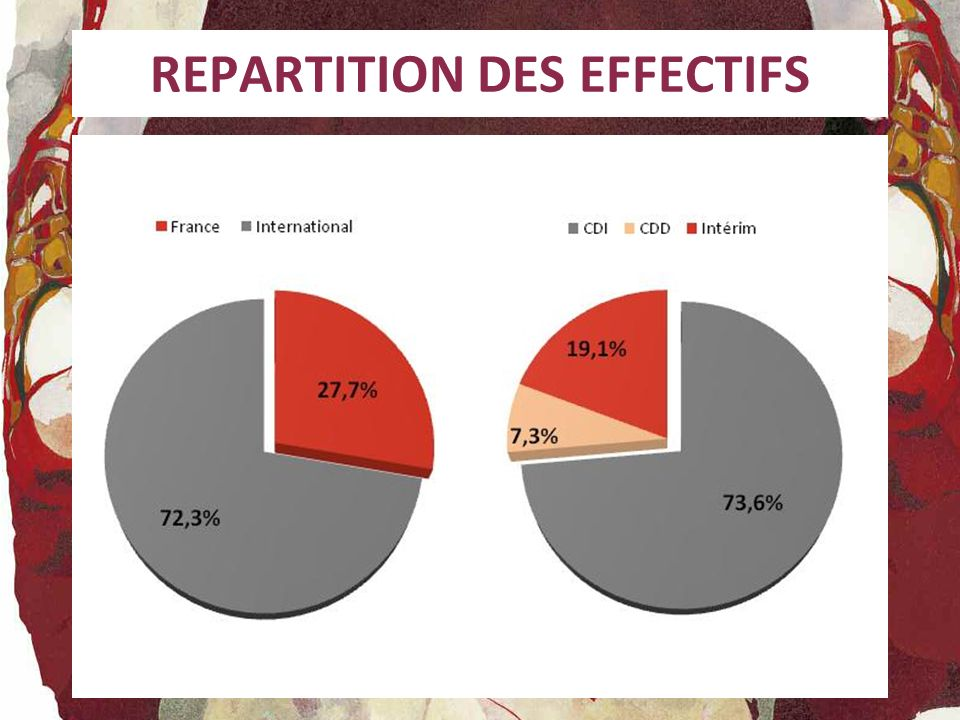 REPARTITION DES EFFECTIFS