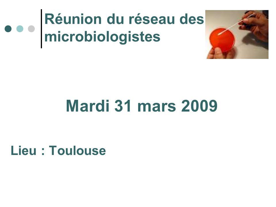 Réunion du réseau des microbiologistes