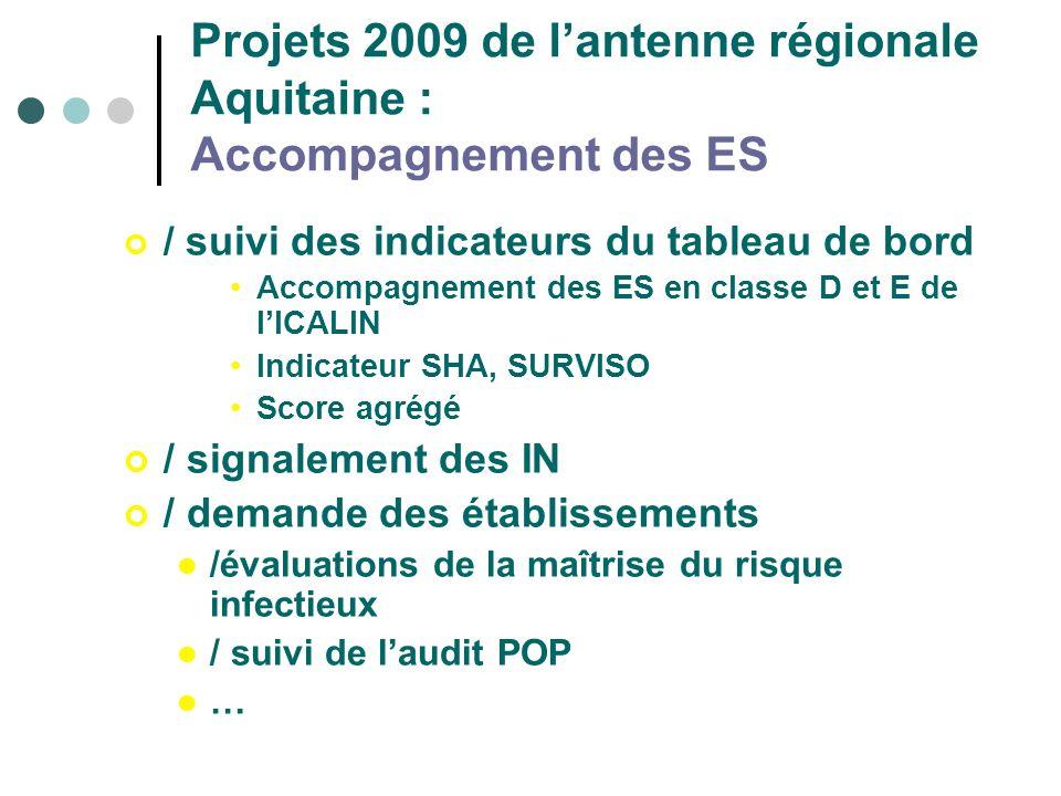 Projets 2009 de l'antenne régionale Aquitaine : Accompagnement des ES