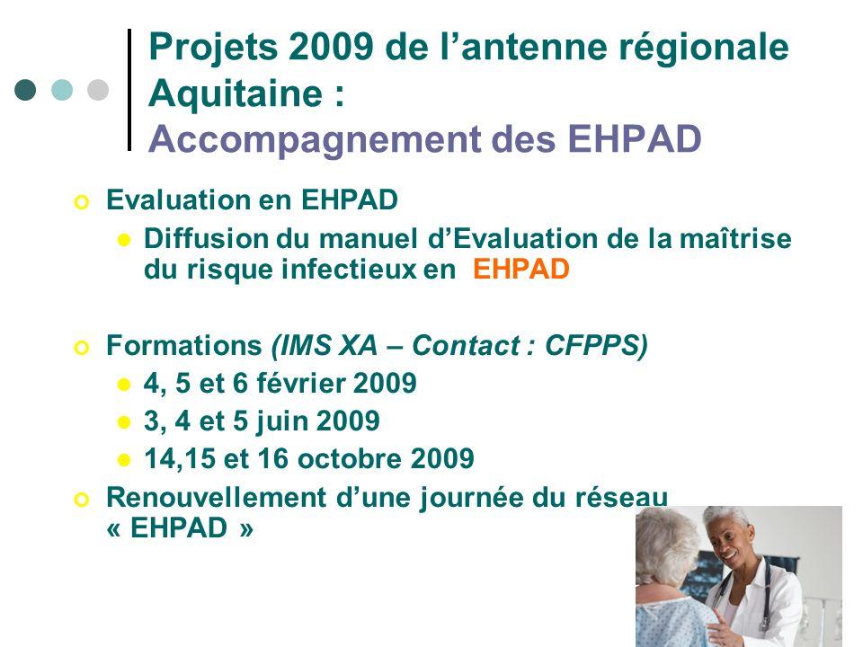 Projets 2009 de l'antenne régionale Aquitaine : Accompagnement des EHPAD