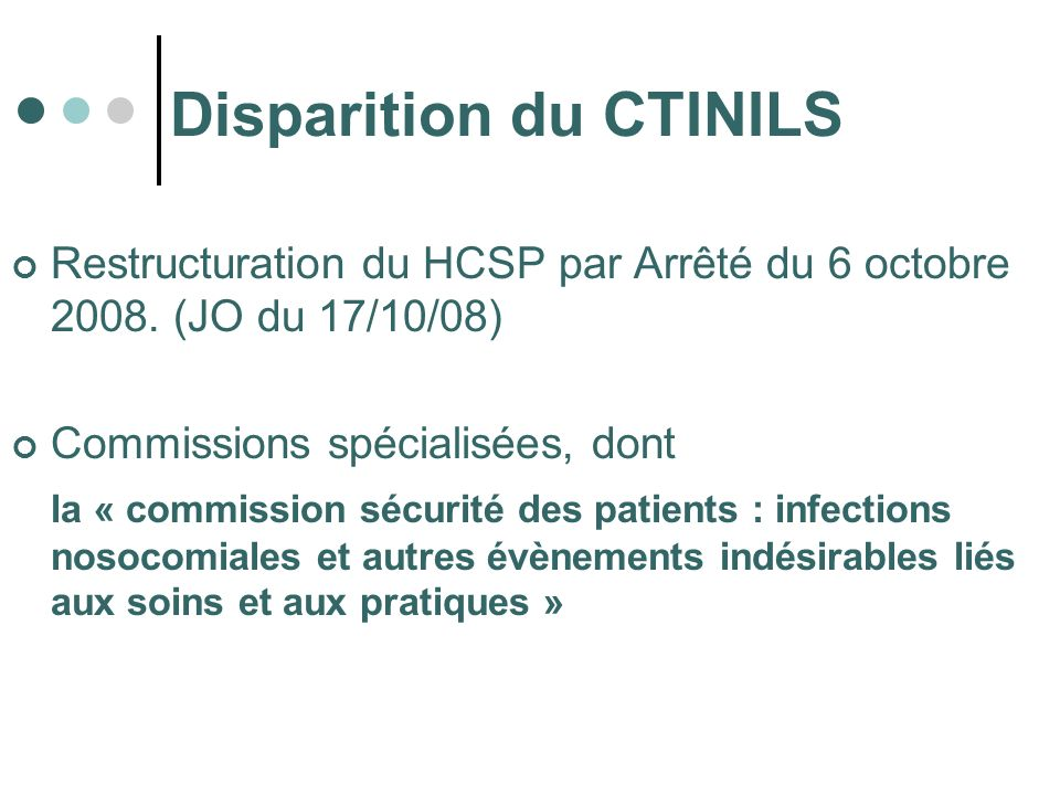 Disparition du CTINILS