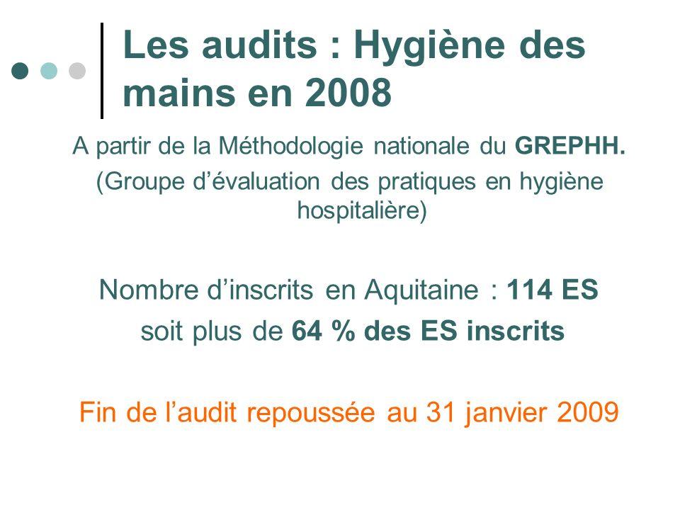Les audits : Hygiène des mains en 2008
