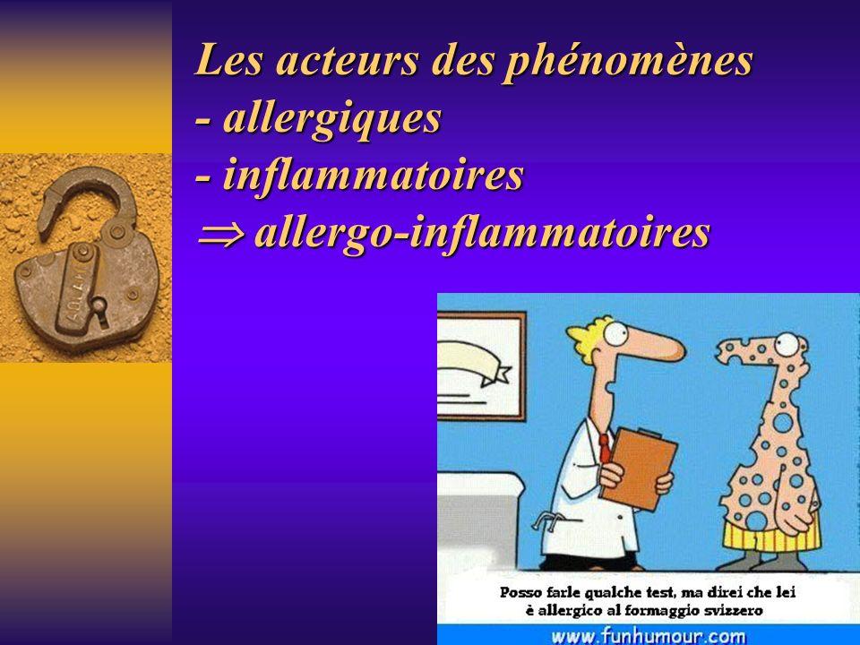 Les acteurs des phénomènes - allergiques - inflammatoires  allergo-inflammatoires