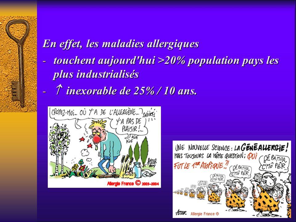 En effet, les maladies allergiques