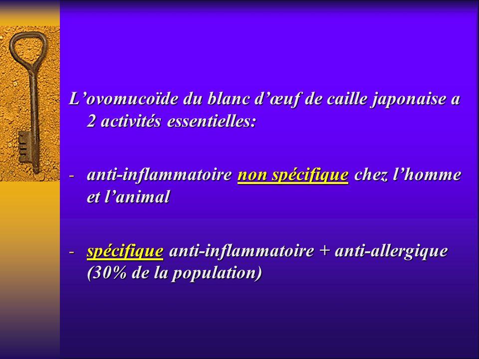 L'ovomucoïde du blanc d'œuf de caille japonaise a 2 activités essentielles: