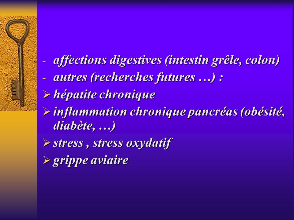 affections digestives (intestin grêle, colon)