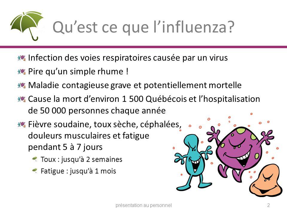 Qu'est ce que l'influenza
