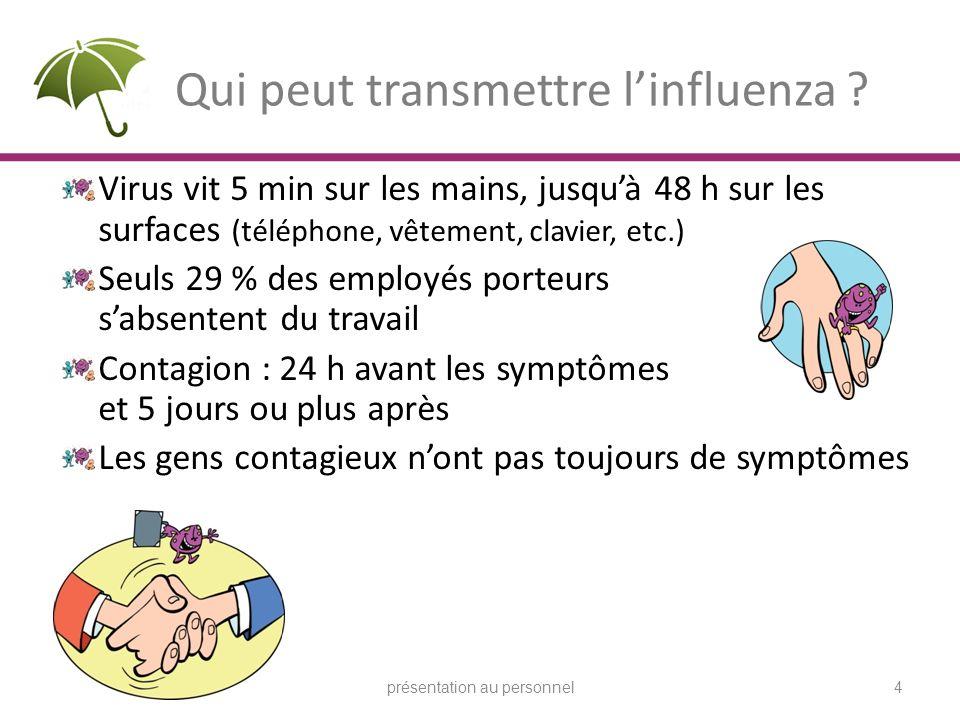 Qui peut transmettre l'influenza