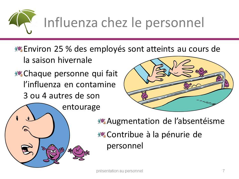 Influenza chez le personnel