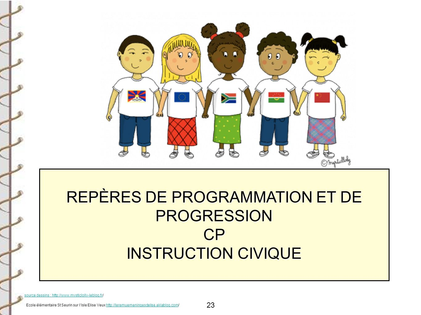 REPÈRES DE PROGRAMMATION ET DE PROGRESSION CP INSTRUCTION CIVIQUE