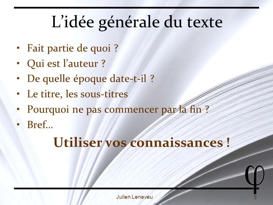 L'idée générale du texte