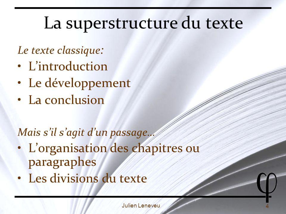 La superstructure du texte