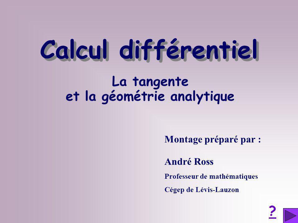 et la géométrie analytique