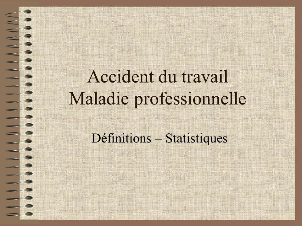 Accident du travail Maladie professionnelle