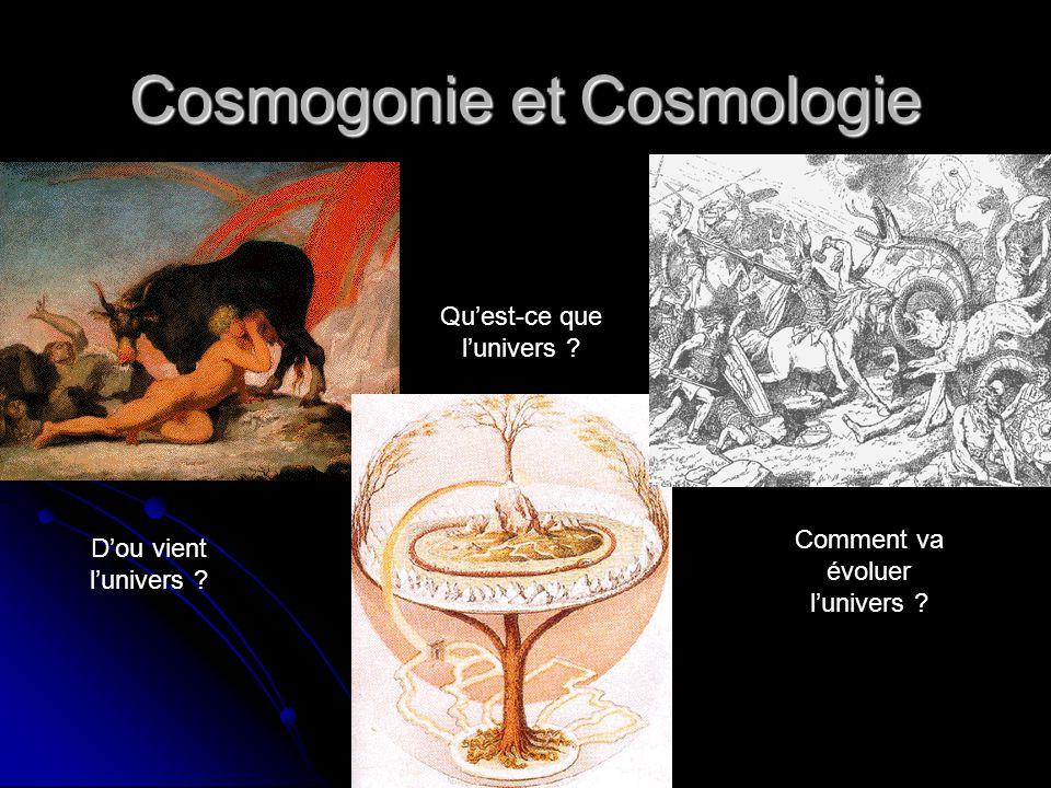 Cosmogonie et Cosmologie