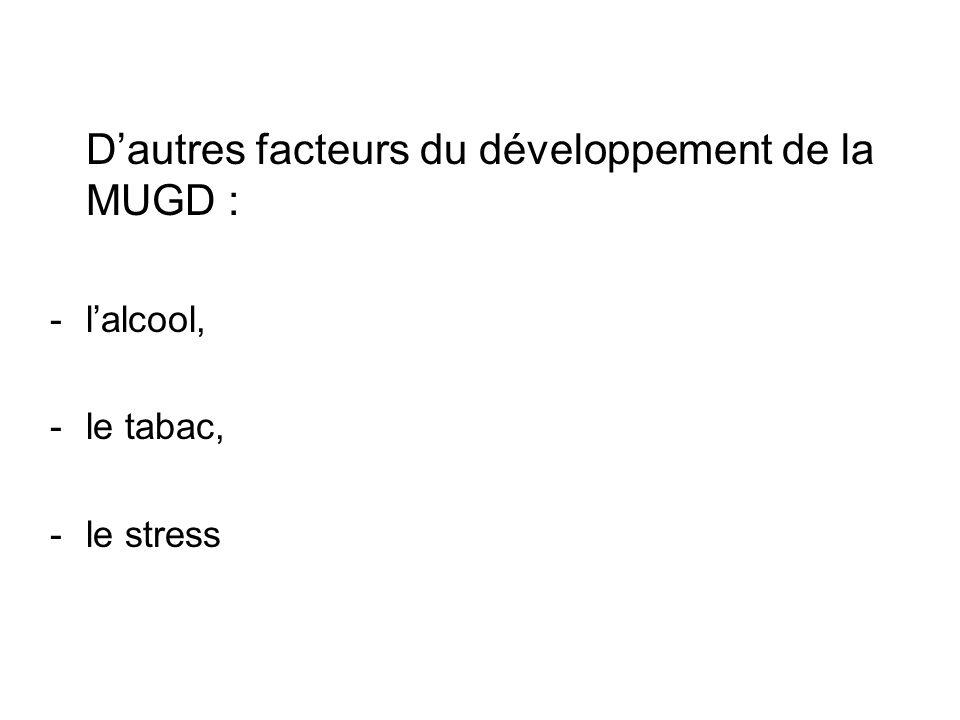 D'autres facteurs du développement de la MUGD :