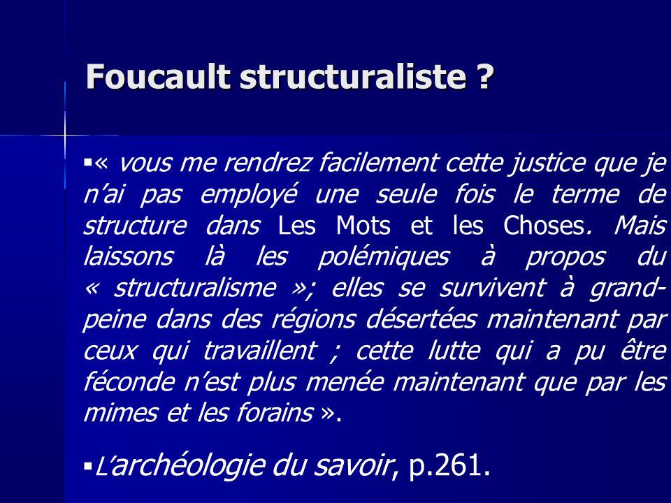Foucault structuraliste