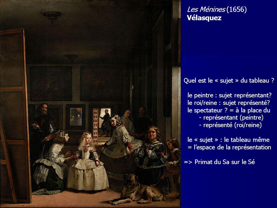 Les Ménines (1656) Vélasquez Quel est le « sujet » du tableau