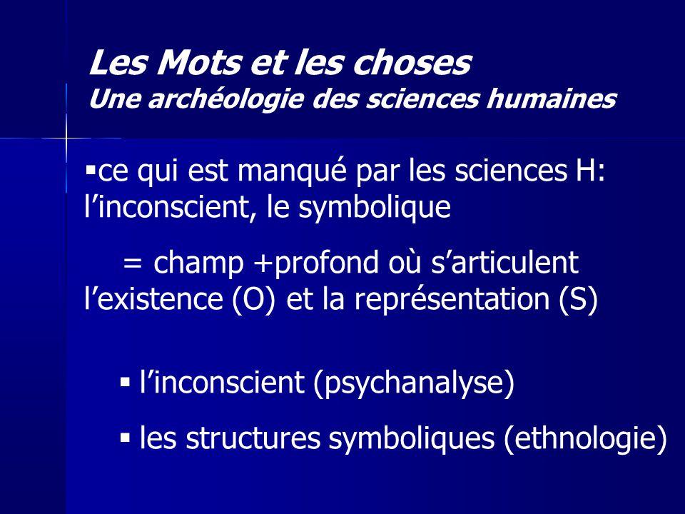 Les Mots et les choses Une archéologie des sciences humaines