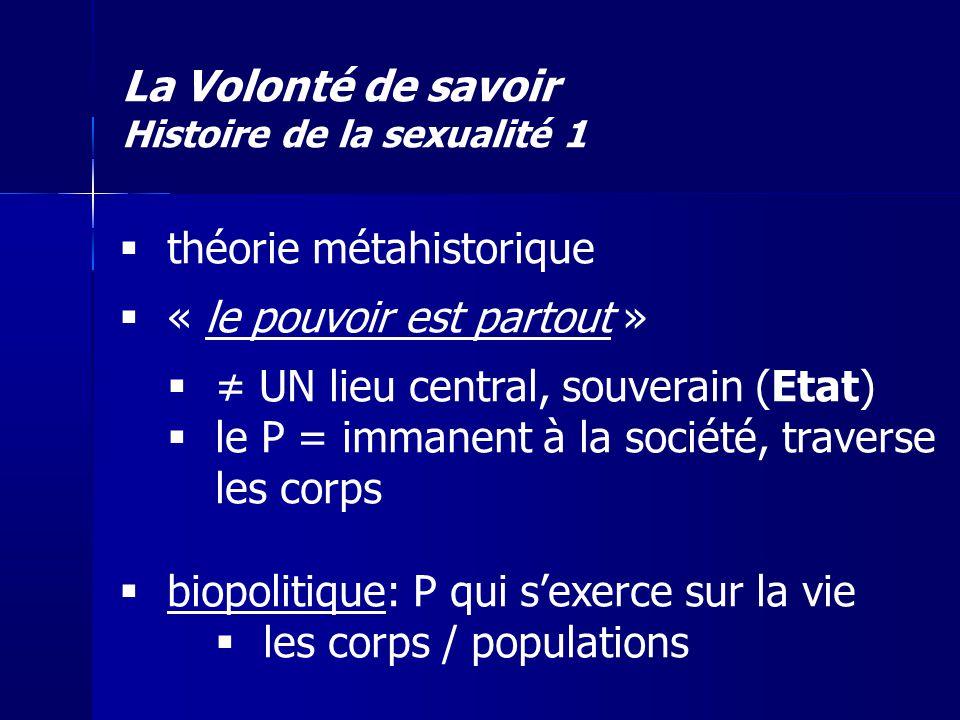 La Volonté de savoir Histoire de la sexualité 1