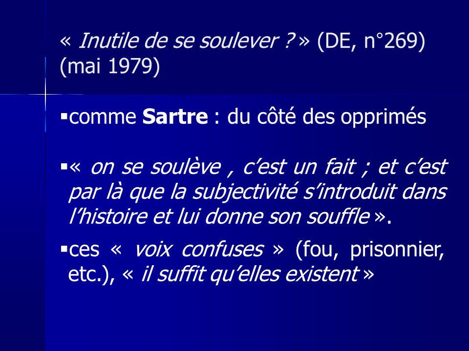 « Inutile de se soulever » (DE, n°269) (mai 1979)